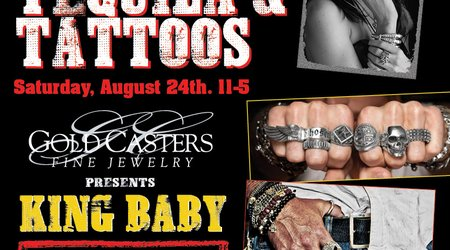 Tacos, Tequila & Tattoos. Saturday, August 24th from 11am-5pm