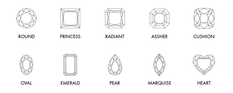 Diamond Shapes Wht